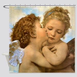 First Kiss by Bouguereau Shower Curtain